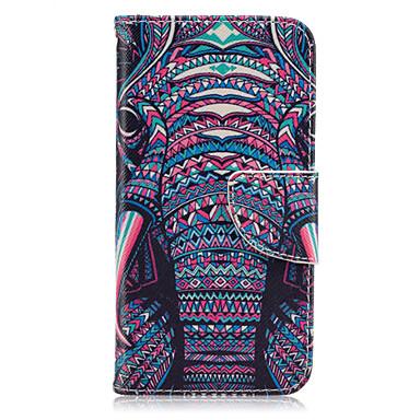 hoesje Voor Samsung Galaxy Samsung Galaxy S7 Edge Kaarthouder Portemonnee met standaard Flip Volledig hoesje Olifant PU-nahka voor S7
