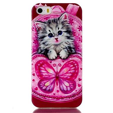 hoesje Voor iPhone 5 hoesje Patroon Achterkantje Kat Zacht TPU voor iPhone SE/5s iPhone 5