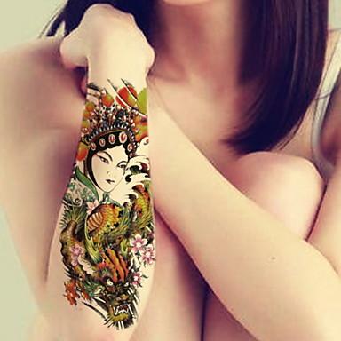 Séries de Jóias / Séries Flores / Séries Totem / Outros-BR-Tatuagem Adesiva-Non Toxic / Estampado / Tamanho Grande / Purpurina / Pistolas