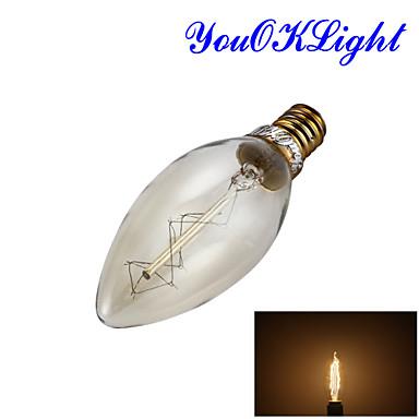 YouOKLight 250 lm E14 LED-bollampen B 1 leds COB Decoratief Warm wit AC 220-240V