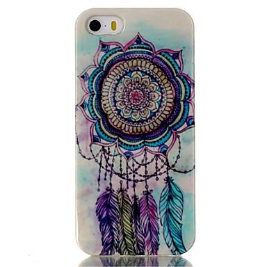 padrão campanula caso de material TPU telefone multicolor para iPhone 5 / 5s