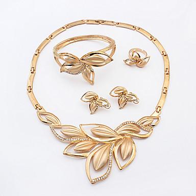 Dames Sieraden Set Opvallende sieraden Modieus Europees Bruiloft Feest Verjaardag Verloving Dagelijks Causaal Strass Legering Ringen