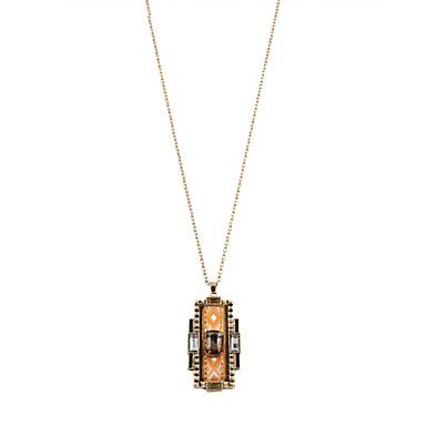 Dames Luxe Bohémien Hangertjes ketting Gesimuleerde diamant Khaki