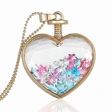 Homens Mulheres Coração Prata de Lei Pingentes - Coração Coração Colar Para Casamento Festa Obrigado Diário Casual namorados