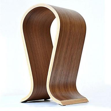 sıcak satış moda ahşap omega u şeklindeki kulaklık ekran kulaklık tutucu standı