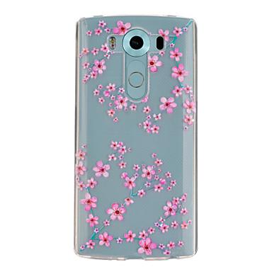Για Θήκη LG Θήκες Καλύμματα Διαφανής Με σχέδια tok Λουλούδι Μαλακή για LG LG V10