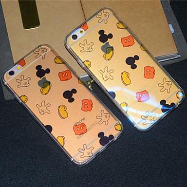 Voor iPhone 6 hoesje iPhone 6 Plus hoesje Hoesje cover Doorzichtig Patroon Achterkantje hoesje Cartoon Zacht TPU vooriPhone 6s Plus