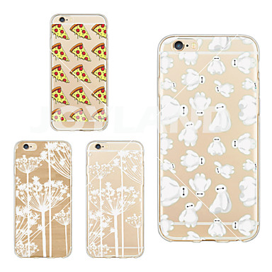 Capinha Para iPhone 6 iPhone 6 Plus Transparente Capa Traseira Azulejo Macia TPU para iPhone 6s Plus iPhone 6 Plus iPhone 6s iPhone 6