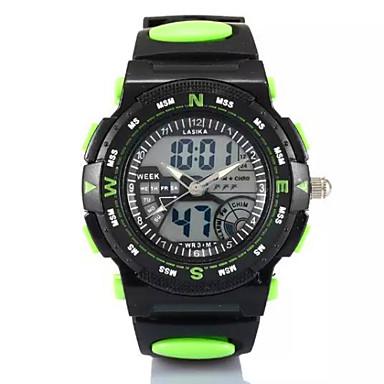 Homens Relógio Esportivo Digital Plastic Banda Preta