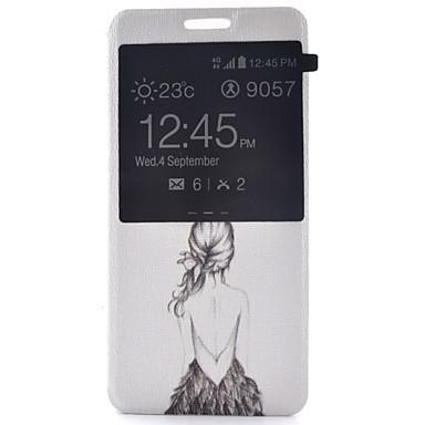 Capinha Para Samsung Galaxy Samsung Galaxy Capinhas Com Suporte com Visor Flip Estampada Corpo Inteiro Mulher Sensual Couro Ecológico para