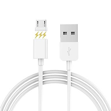 Micro-USB 2.0 USB 2.0 Adaptador de cabo USB Magnética Cabo Para Samsung Huawei LG Nokia Lenovo Xiaomi Motorola HTC Sony 100 cm Silicone