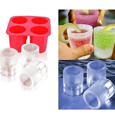 cup diy molde de gelo aparece moldes de picolé molde iogurte de gelo caixa de frigorífico trata congelado congelador (cor ramdon)