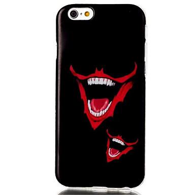 rode lippen patroon TPU materiaal telefoon Case voor iPhone 6 / 6s