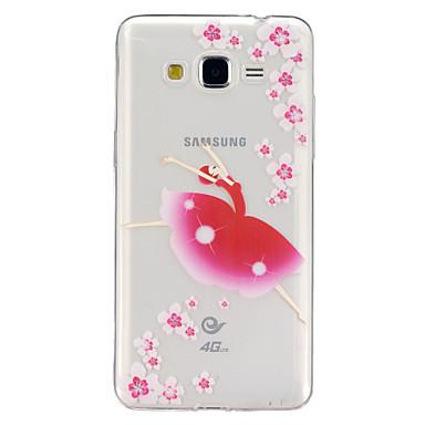 Voor Samsung Galaxy hoesje Hoesje cover Transparant Patroon Achterkantje hoesje Bloem TPU voor Samsung Galaxy J5 Grand Prime Core Prime