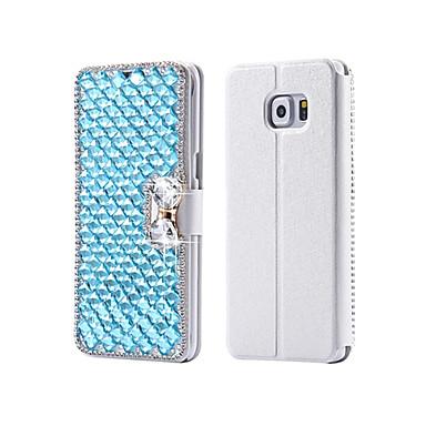 Capinha Para Samsung Galaxy Samsung Galaxy Capinhas Porta-Cartão Com Strass Com Suporte Flip Corpo Inteiro Glitter Brilhante Couro