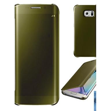 Недорогие Чехлы и кейсы для Galaxy S-Кейс для Назначение SSamsung Galaxy S6 edge plus / S6 edge / S6 Покрытие / Зеркальная поверхность / Флип Чехол Однотонный Твердый ПК / Прозрачный