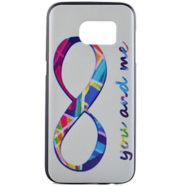 Para Samsung Galaxy S7 Edge Estampada Capinha Capa Traseira Capinha Palavra / Frase PC Samsung S7 edge / S7