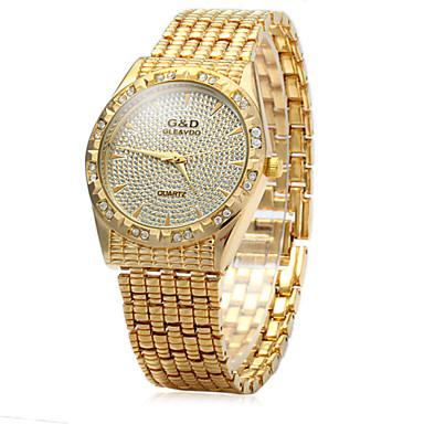 Dames Modieus horloge Pavé horloge Kwarts Roestvrij staal Band Zilver Goud