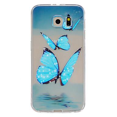 Para Samsung Galaxy Capinhas Case Tampa Com Relevo Capa Traseira Capinha Borboleta PUT para Samsung Galaxy S6 edge plus S6 edge S6 S5