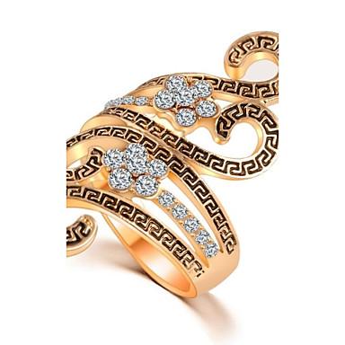 Vintage / Informeel - Legering / Diamant - Opvallende ring