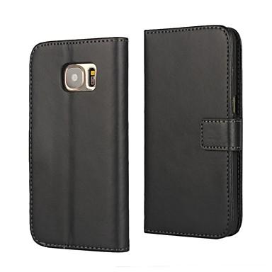 Para Samsung Galaxy Capinhas Carteira / Com Suporte / Flip Capinha Corpo Inteiro Capinha Cor Única Couro PU Samsung S7