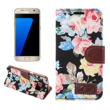 غطاء من أجل Samsung Galaxy S7 edge S7 حامل البطاقات محفظة مع حامل قلب غطاء كامل للجسم قاسي جلد PU إلى S7 edge S7 S6 edge plus S6 edge S6