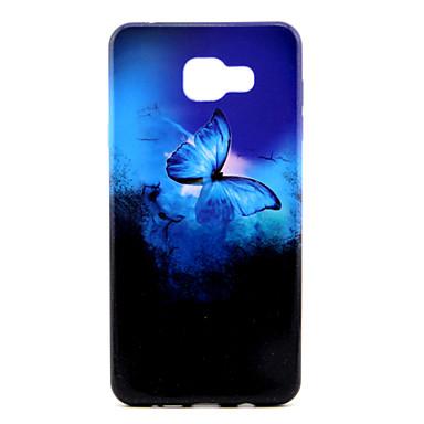 Capinha Para Samsung Galaxy Samsung Galaxy Capinhas Estampada Capa Traseira Borboleta TPU para A7(2016) A5(2016) A3(2016)
