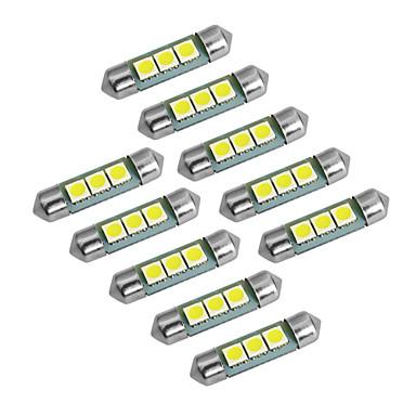 T10 Festoon Carro Caminhões e Reboques Motocicleta Branco Branco Frio 1W SMD 5050 6000-6500Luz de Novoeiro Luz Diurna Corrente Faixa LED