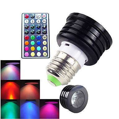 E26/E27 LED Σποτάκια MR16 1 LED Υψηλης Ισχύος 300 lm RGB Με ροοστάτη Τηλεχειριζόμενο Διακοσμητικό AC 100-240 V 1 τμχ