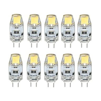 billige LED-lyspærer-10pcs 1 W LED-lamper med G-sokkel 100 lm G4 T 1 LED Perler COB Dæmpbar Varm hvid Kold hvid 12 V / 10 stk. / RoHs