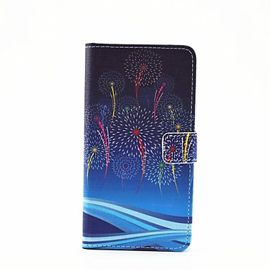 hoesje Voor Samsung Galaxy Samsung Galaxy hoesje Kaarthouder met standaard Flip Magnetisch Patroon Volledige behuizing Paardebloem PU-leer
