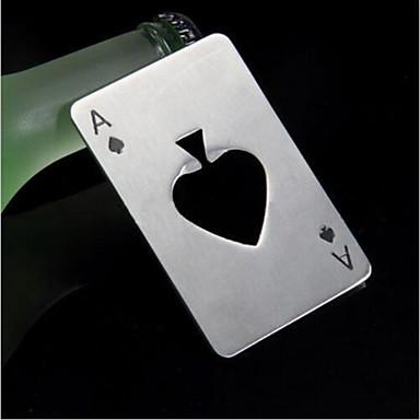 스페이드 포커 바 도구 병 소다 맥주 뚜껑 오프너 선물의 재생 카드 에이스