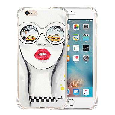 Case Kompatibilitás iPhone 6 iPhone 6 Plus Ütésálló Minta Hátlap Szexi lány Puha Szilikon mert iPhone 6s Plus iPhone 6 Plus iPhone 6s