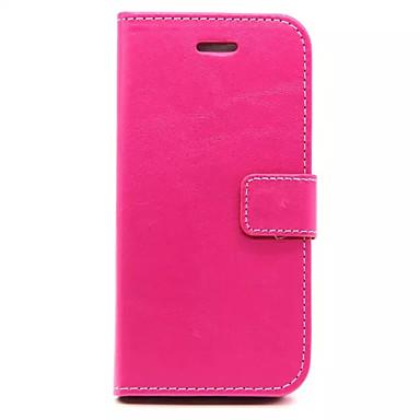 용 아이폰6케이스 / 아이폰6플러스 케이스 지갑 / 카드 홀더 / 스탠드 / 플립 케이스 풀 바디 케이스 단색 하드 인조 가죽 iPhone 6s Plus/6 Plus / iPhone 6s/6
