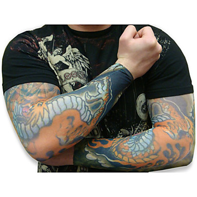 hűvös 10db hamis ideiglenes tetoválás ujjú body art kar harisnya accessorie