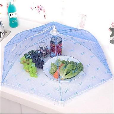 konyha party asztal élelmiszer tárolására fedél összecsukható esernyő háló csipke fém keret véletlenszerű színt