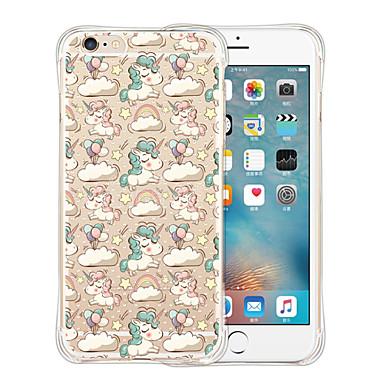 Case Kompatibilitás Apple iPhone 6 iPhone 6 Plus Ütésálló Átlátszó Minta Fekete tok Egyszarvú Puha Szilikon mert iPhone 6s Plus iPhone 6s