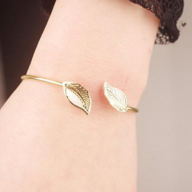 Női Karperecek - Leaf Shape minimalista stílusú, Nyitva Karkötők Aranyozott Kompatibilitás Karácsonyi ajándékok / Parti / Napi