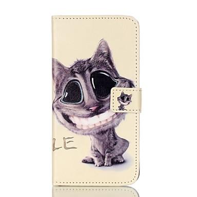 Mert Kártyatartó Pénztárca Állvánnyal Flip Minta Case Teljes védelem Case Cica Kemény Műbőr mert AppleiPhone 7 Plus iPhone 7 iPhone 6s