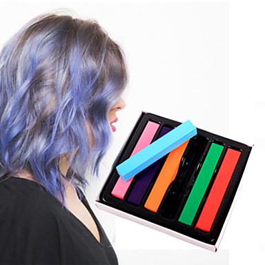6 színes kréta ideiglenes ceruzák haj nem mérgező hajfesték pasztell stick DIY hajformázó eszközök