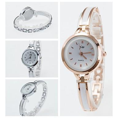 Dames Modieus horloge Armbandhorloge Kwarts Keramiek Band Zwart Wit Zilver Goud Rose