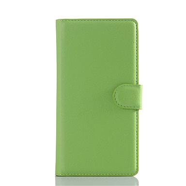 Mert Sony tok / Xperia Z5 / Xperia Z3 Pénztárca / Kártyatartó / Állvánnyal / Flip Case Teljes védelem Case Egyszínű Kemény Műbőr mert Sony