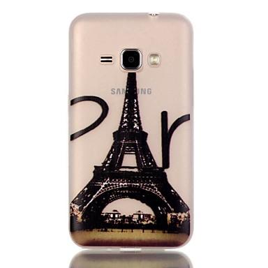 Mert Samsung Galaxy tok Foszforeszkáló Case Hátlap Case Eiffel torony TPU Samsung J1 (2016)