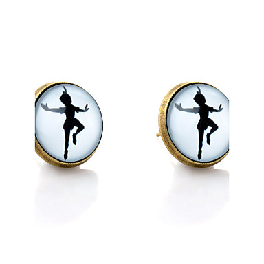 Beszúrós fülbevalók minimalista stílusú Szintetikus drágakövek Üveg Ötvözet Ékszerek Kompatibilitás Esküvő Parti Napi Hétköznapi