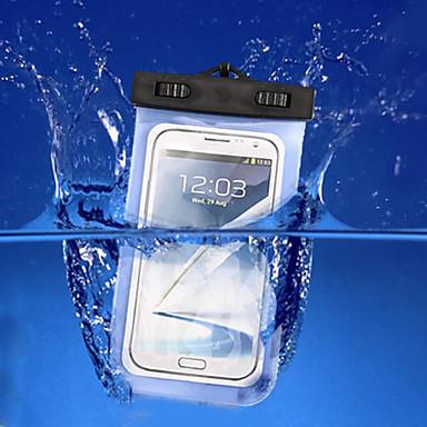 voordelige iPhone 6 Plus hoesjes-hoesje Voor iPhone 7 / iPhone 6s Plus / iPhone 6 Plus iPhone SE / 5s Waterbestendig / met venster Buideltas Effen Zacht PC