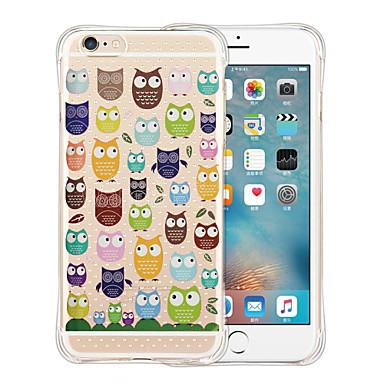 Case Kompatibilitás iPhone 6 iPhone 6 Plus Ütésálló Átlátszó Minta Hátlap Rajzfilm Puha Szilikon mert iPhone 6s Plus iPhone 6 Plus iPhone
