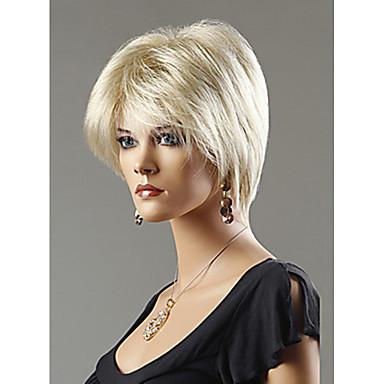 Συνθετικές Περούκες Ίσιο Συνθετικά μαλλιά Περούκα Γυναικεία Κοντό Χωρίς κάλυμμα