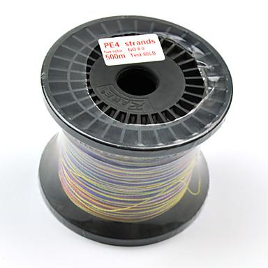 500M / 550 야드 PE 꼰 선 / Dyneema 80LB 0.5 mm 용 바다 낚시 플라이 피싱 베이트 캐스팅 스피닝 일반적 낚시 건지러 & 보트 낚시 잉어 낚시