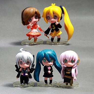 Figuras de Ação Anime Inspirado por Fantasias Hatsune Miku PVC 5 CM modelo Brinquedos Boneca de Brinquedo