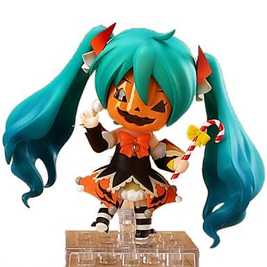 Anime Akciófigurák Ihlette Vocaloid Hatsune Miku 10 CM Modell játékok Doll Toy